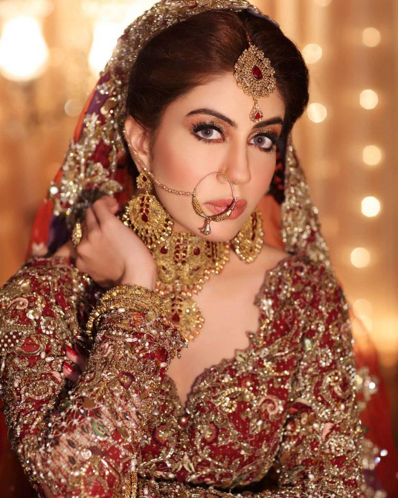Sadia Faisal Looks Stunning In Bridal Photoshoot