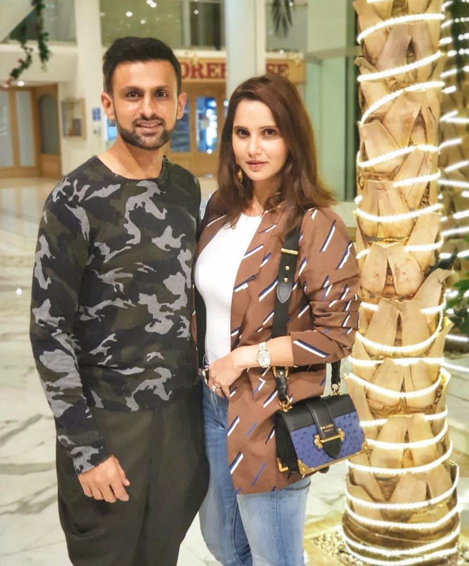 Shoaib Malik and Sania Mirza with their Cute Son Izhaan