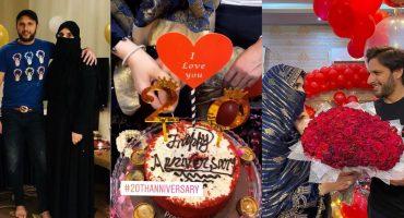 Shahid Afridi Celebrated 20th Wedding Anniversary 34
