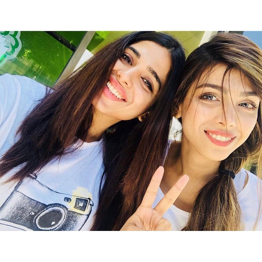 Sonya Hussyn with her Sister Sana Hussyn in USA - Beautiful Pictures