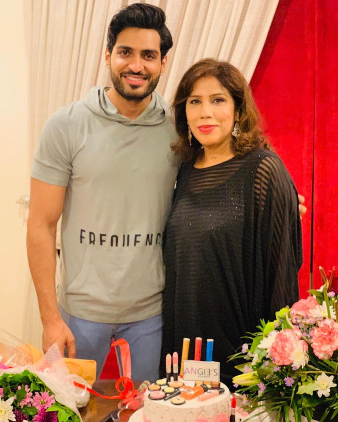 Sunita Marshal with Husband Hassan Ahmed Spotted at a Birthday Party