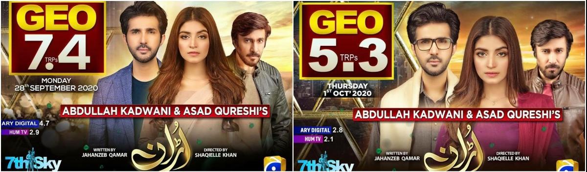 Highest TRP Pakistani Dramas Right Now