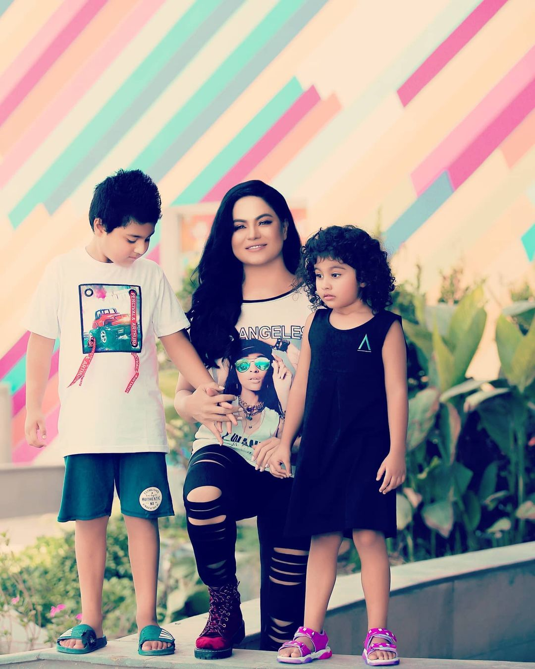 Veena Malick Latest Pictures with Her Kids