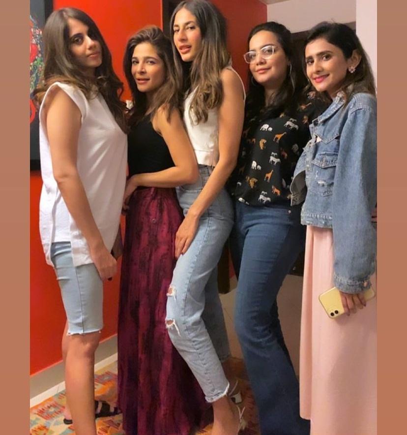 Ayesha Omar Celebrating her Birthday with her Friends
