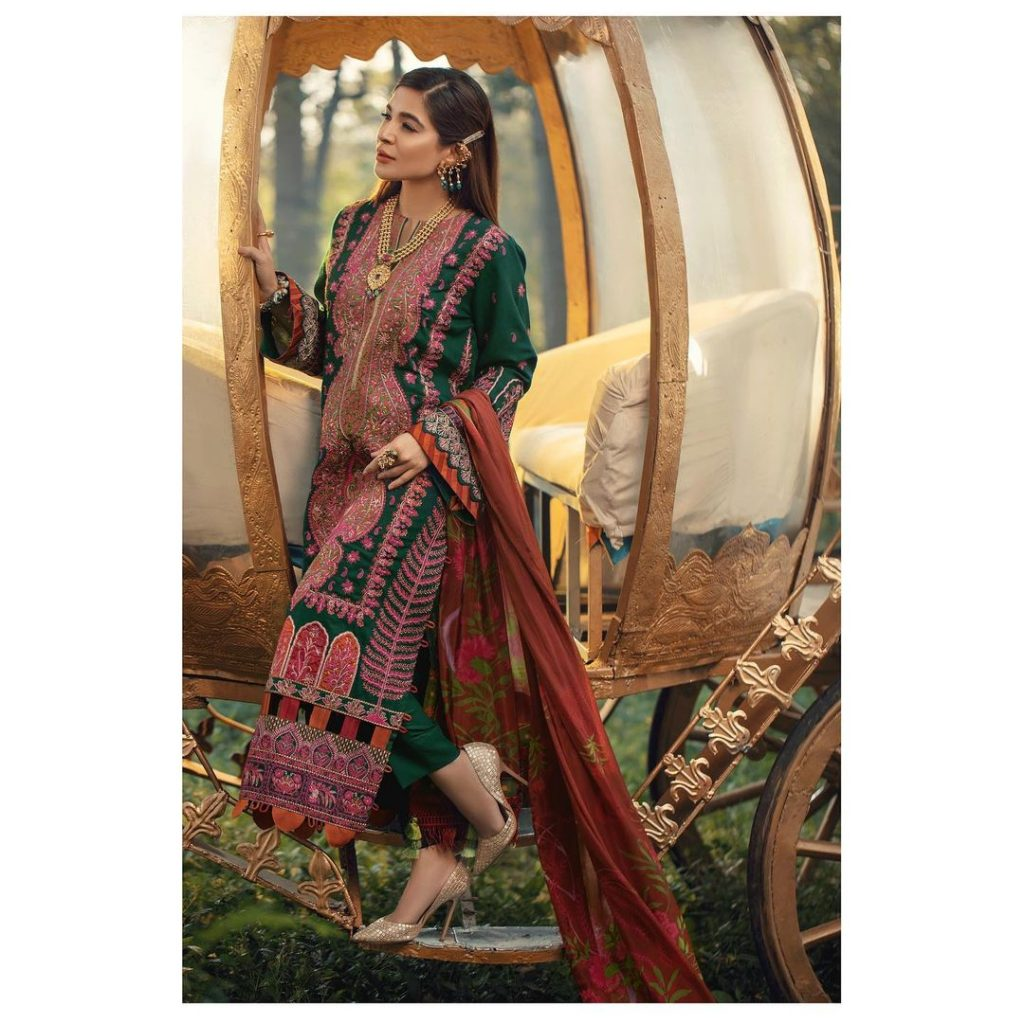 Maryam Hussain Latest Collection Featuring Ayesha Omar