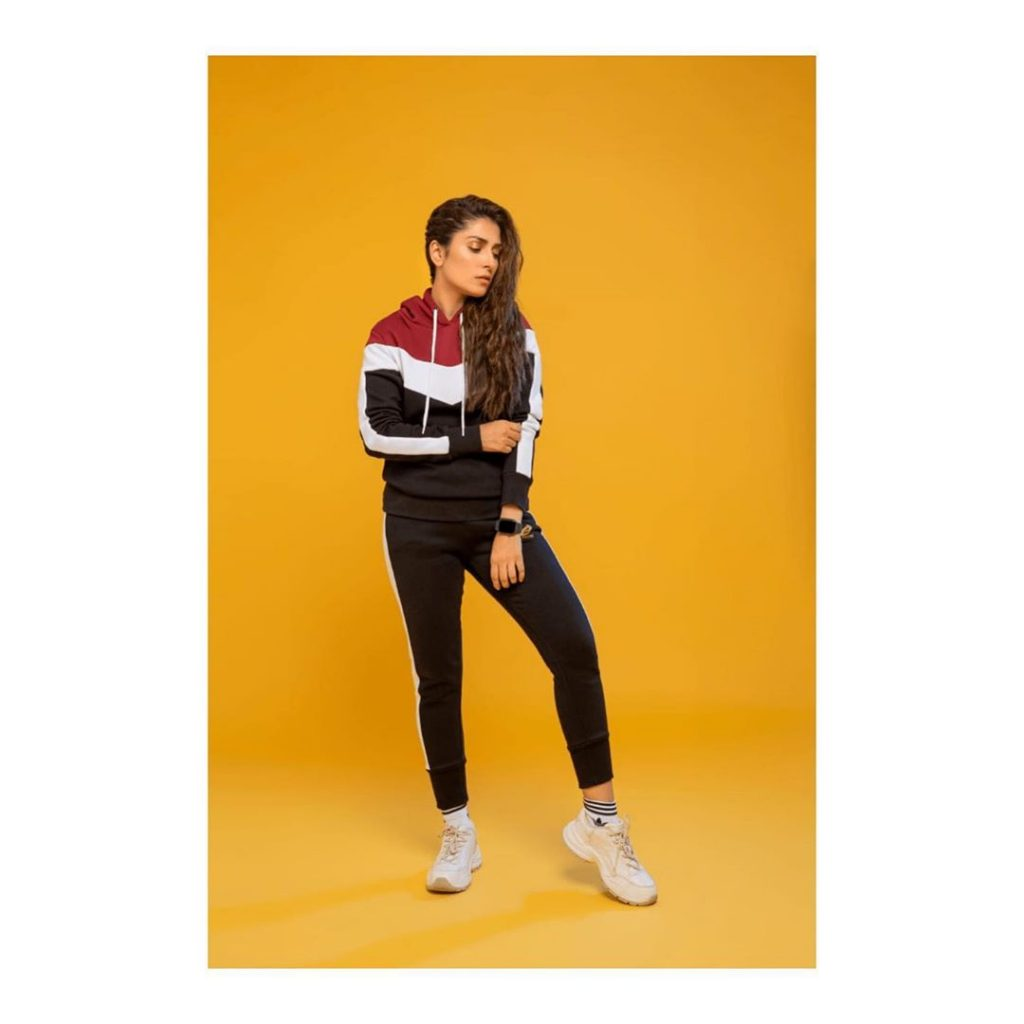 Sporty Look of The Lovely Ayeza Khan - Complete Collection