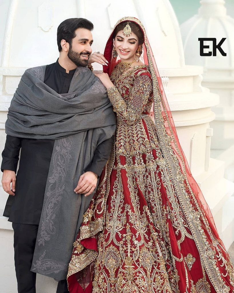 Azfar Rehman And Kinza Hashmi Featured For Erum Khans Latest Collection
