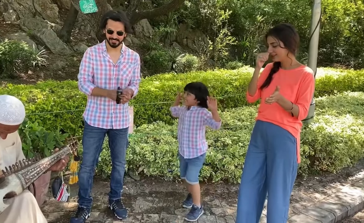 Bilal Qureshi and Uroosa Qureshi Beautiful Clicks with their Son from Islamabad