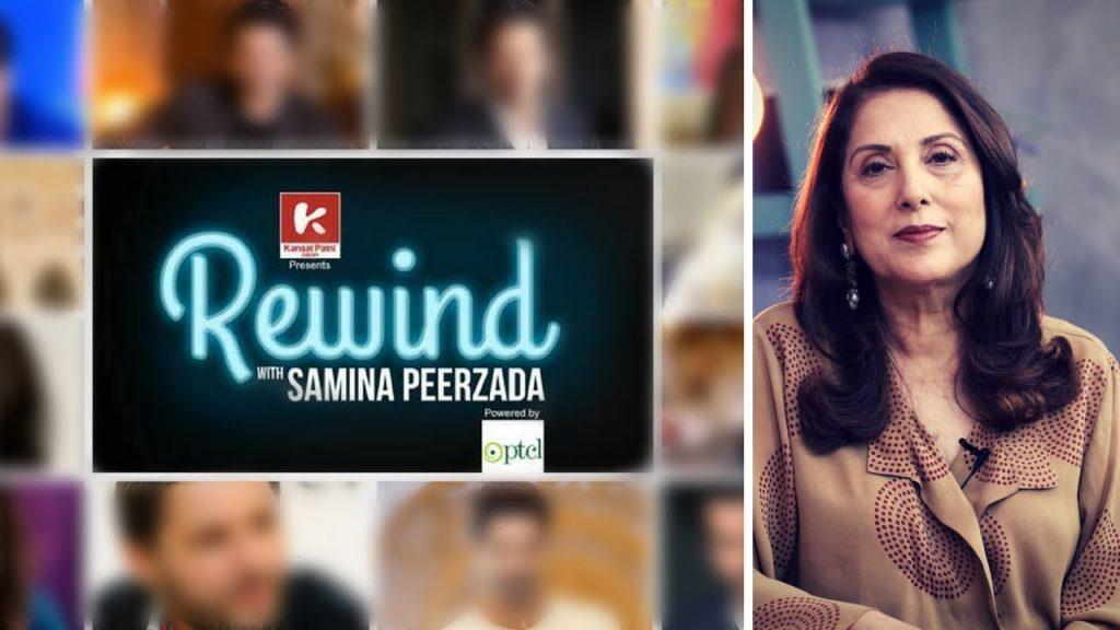 Tabish Hashmi And Mustafa Chaudhry Making Fun Of Rewind With Samina Peerzada