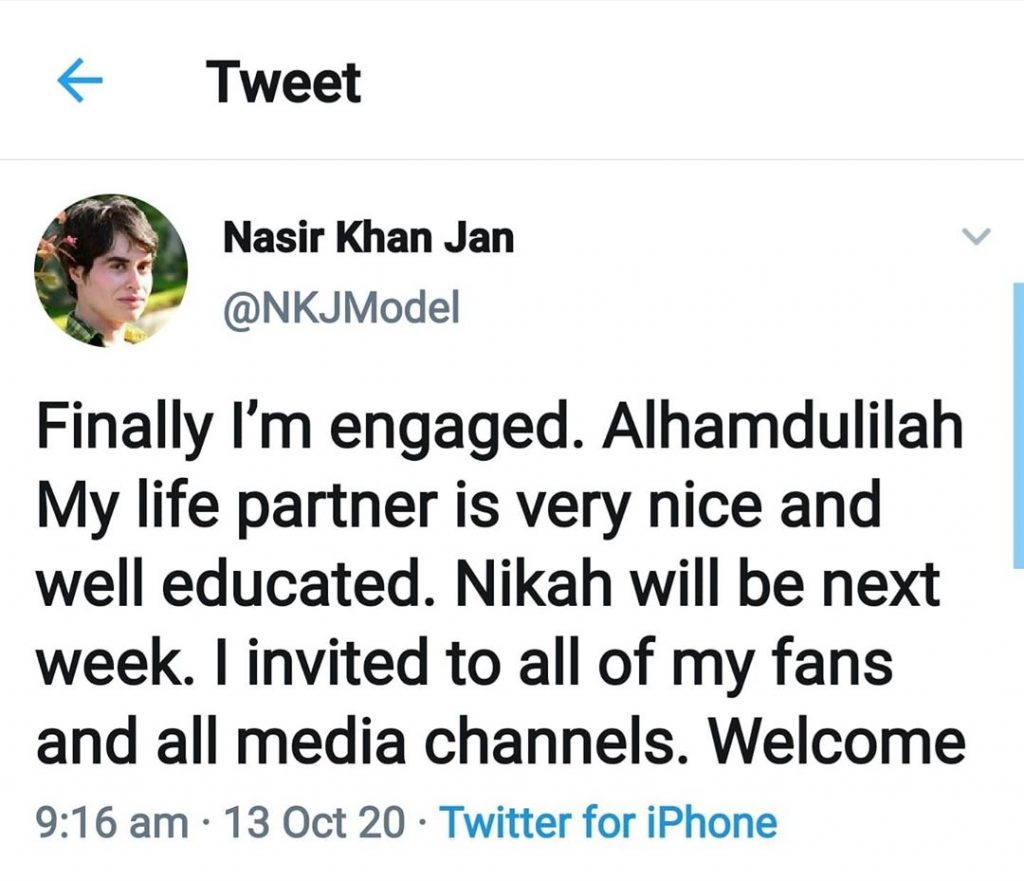 Hilarious Reactions To Nasir Khan Jans Engagement Announcement