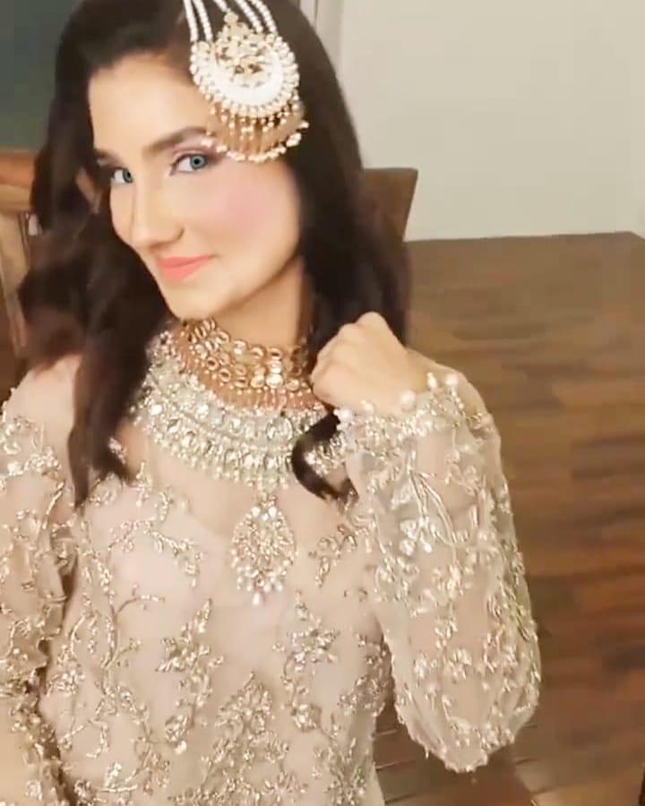 Nimra Ali Transformed Into A Ravishing Young Bride