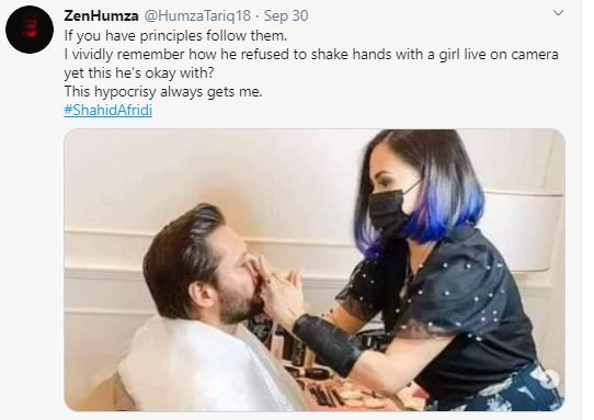 Shahid Afridi Faces Controversy After Make-up Pictures Go Viral