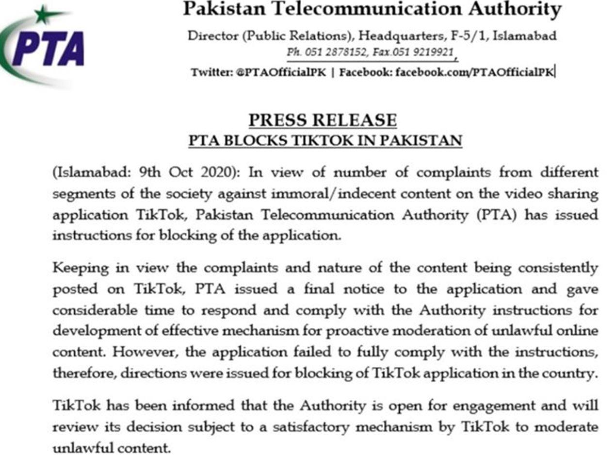 5 Reasons Why TikTok Banned in Pakistan