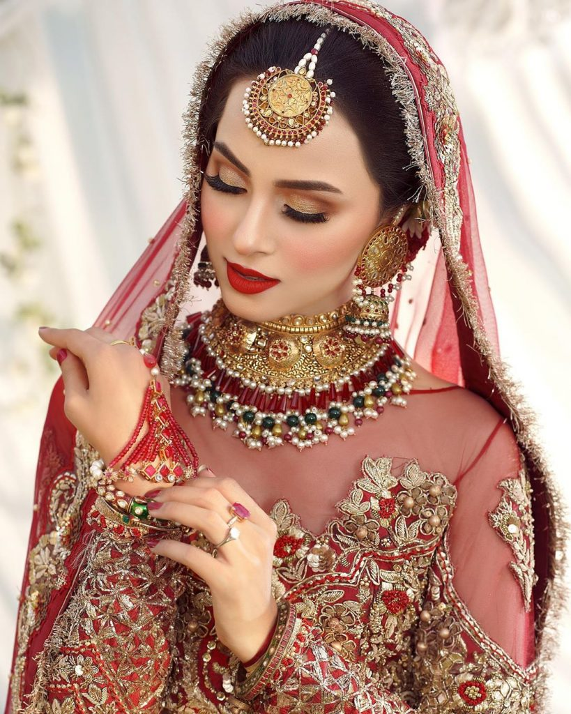 Latest Bridal Shoot Presenting Nimra Khan