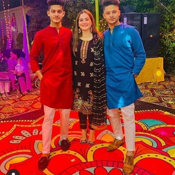 Aiman Khan Spotted at Family Wedding Event