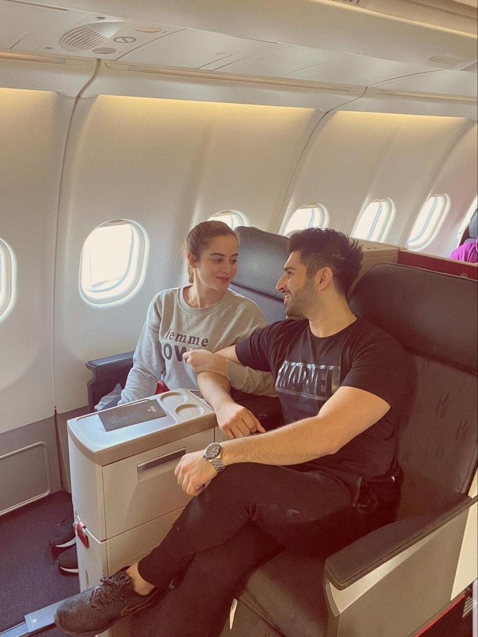 Aiman Khan and Muneeb Butt Flying to Turkey for Vacation