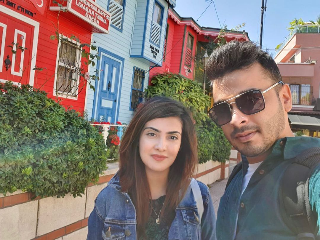Actress Alizeh Tahir Pictures with her Husband from Different Countries