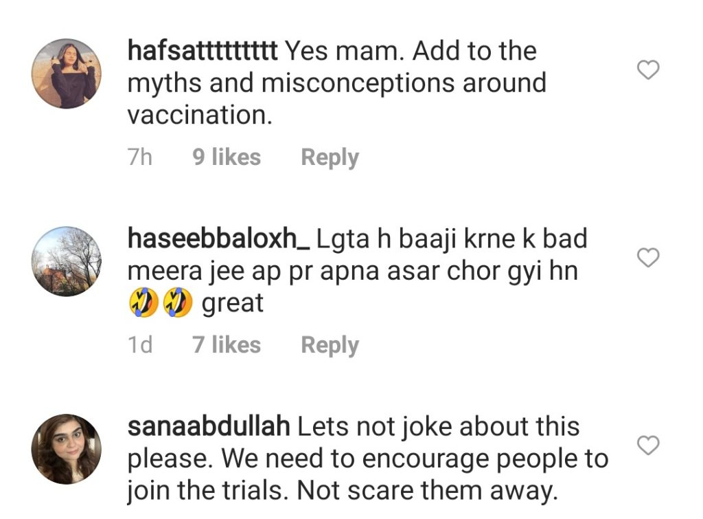 Amna Ilyas Made Fun Of Corona Vaccine - Receiving Severe Backlash