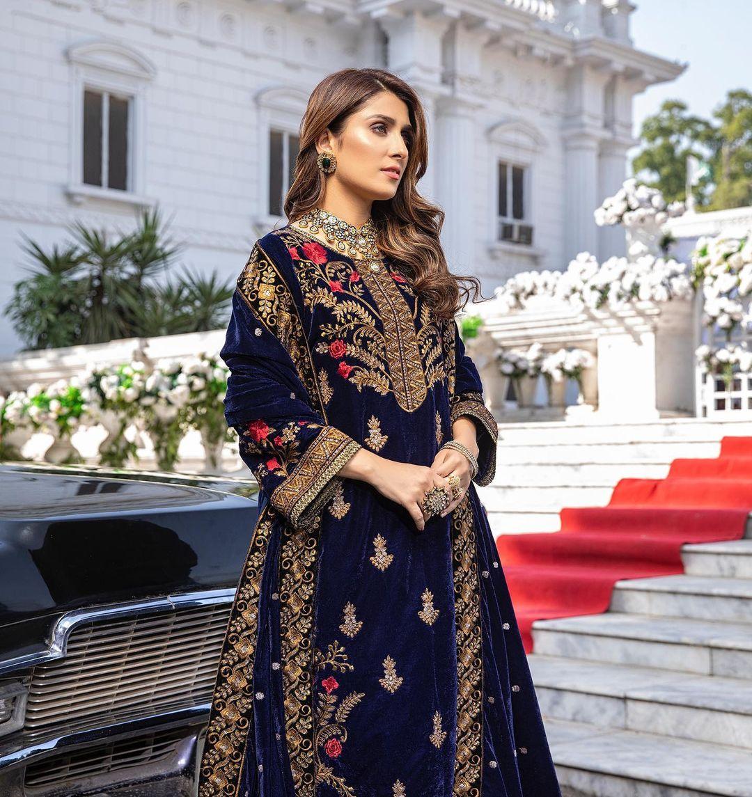 Azure Velvet Winter Collection 2020 Featuring Ayeza Khan