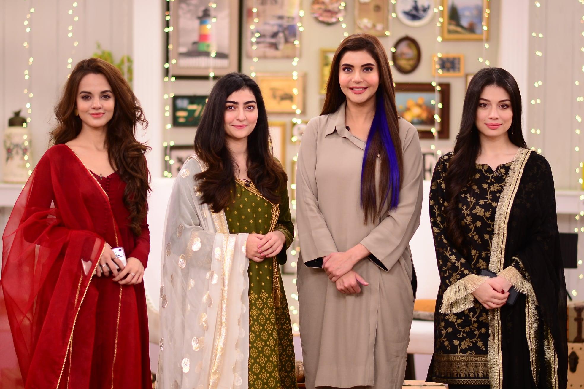 Maha Hasan, Sidra Batool and Komal Meer Pictures from GMP
