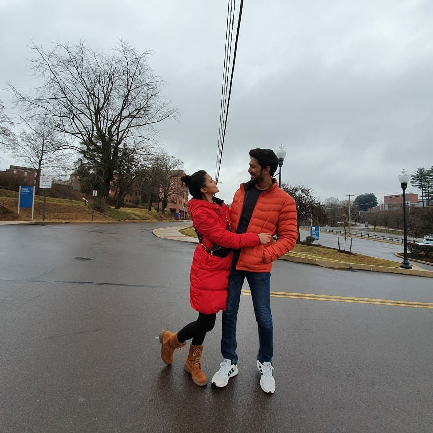 Danish Hayat with his Wife Faizaa Ashfaq - Latest Photos