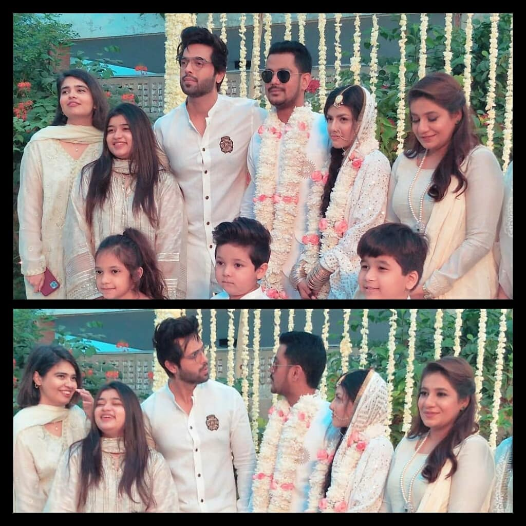 Actor Fahad Mustafa with his Family at a Recent Wedding Event