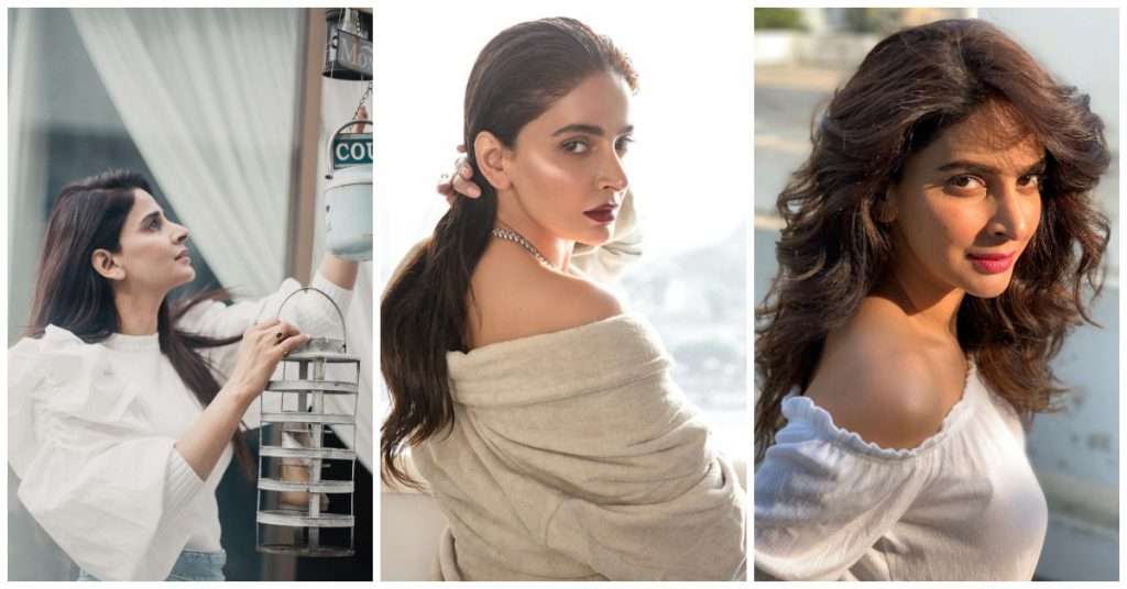 Lovely Photos of Saba Qamar With 45 Shades of White