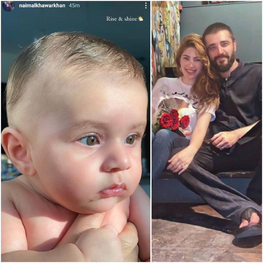 Hamza Ali Abbasi and Naimal Son Mustafa Latest Cute Clicks
