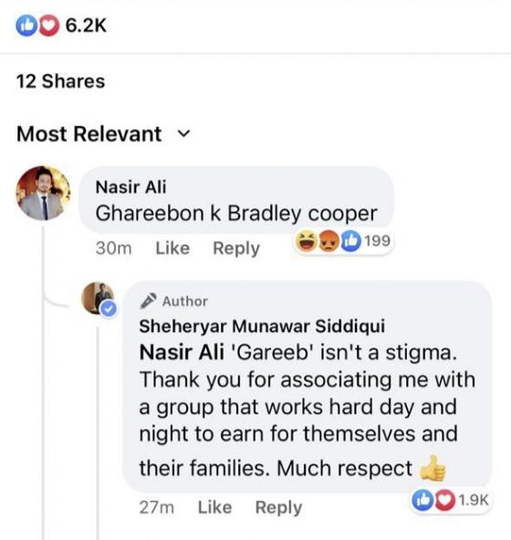 Sheheryar Munawar Clapped Back At A Hater