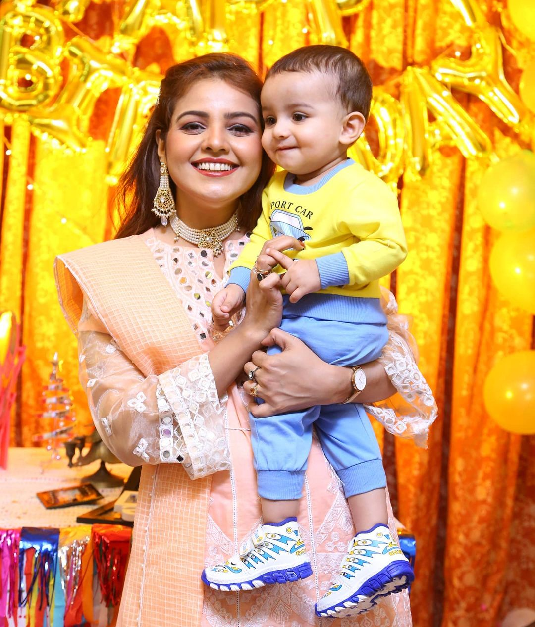 Actress Isha Noor Son First Birthday Pictures