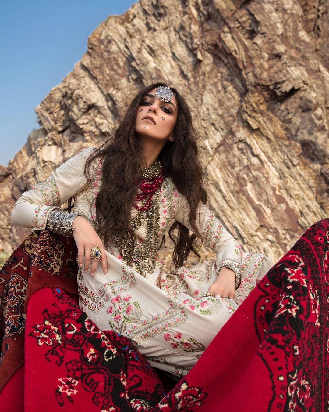 Crimson Winter Collection 2020 by Saira Shakira Featuring Maya Ali