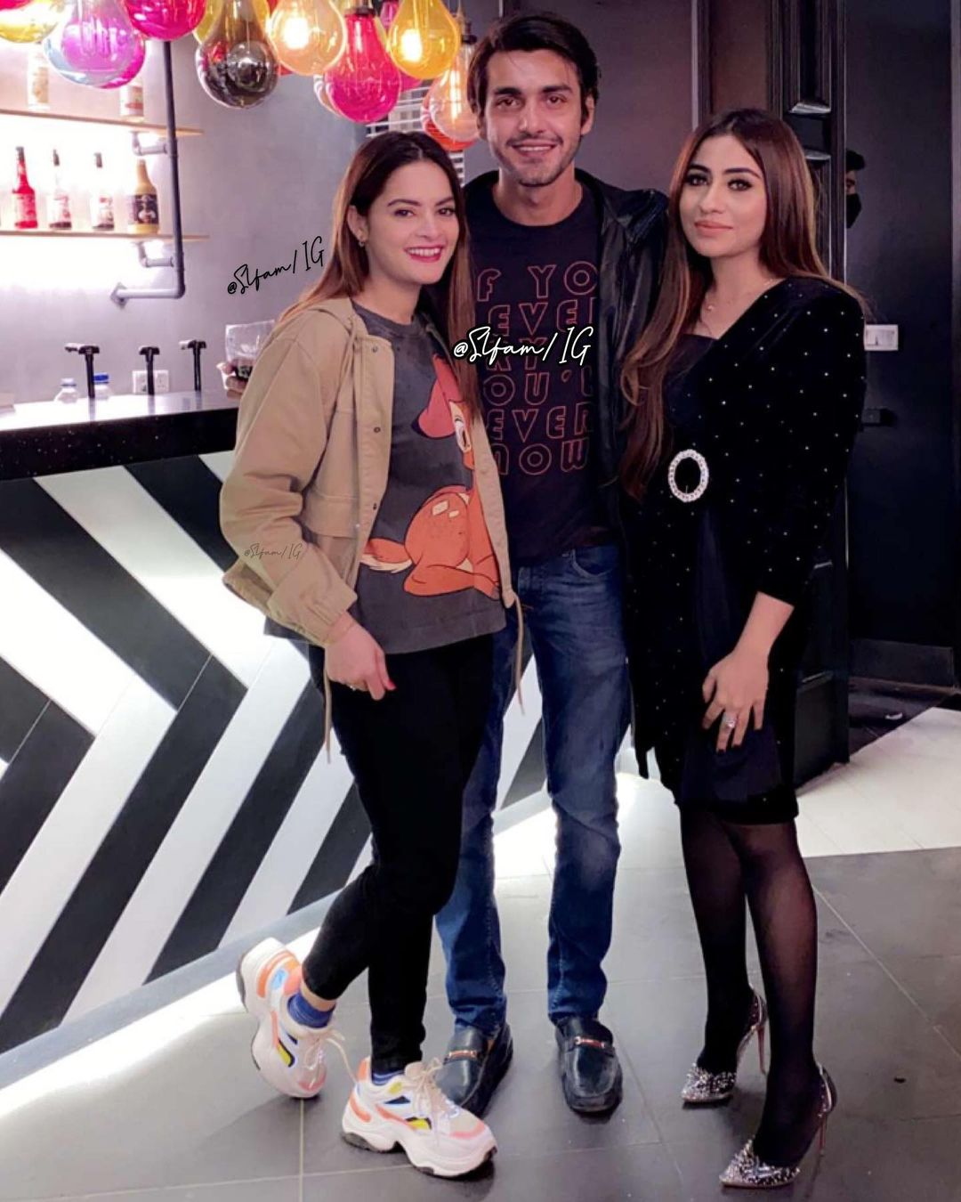 Minal Khan with Friends at a Birthday Party