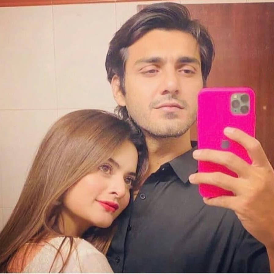 Minal Khan with her Baeu Ahsan Mohsin Akram
