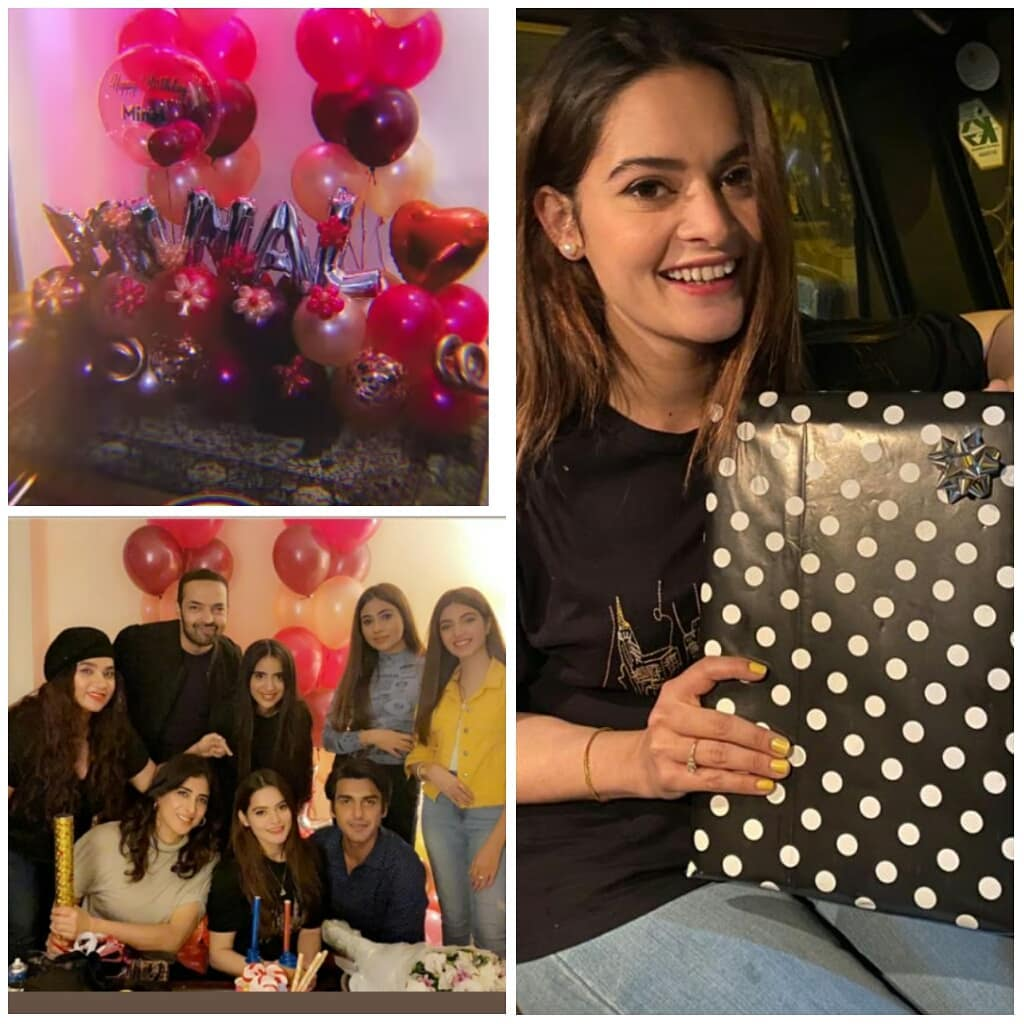 Minal Khan Birthday Pictures with Family and Friends