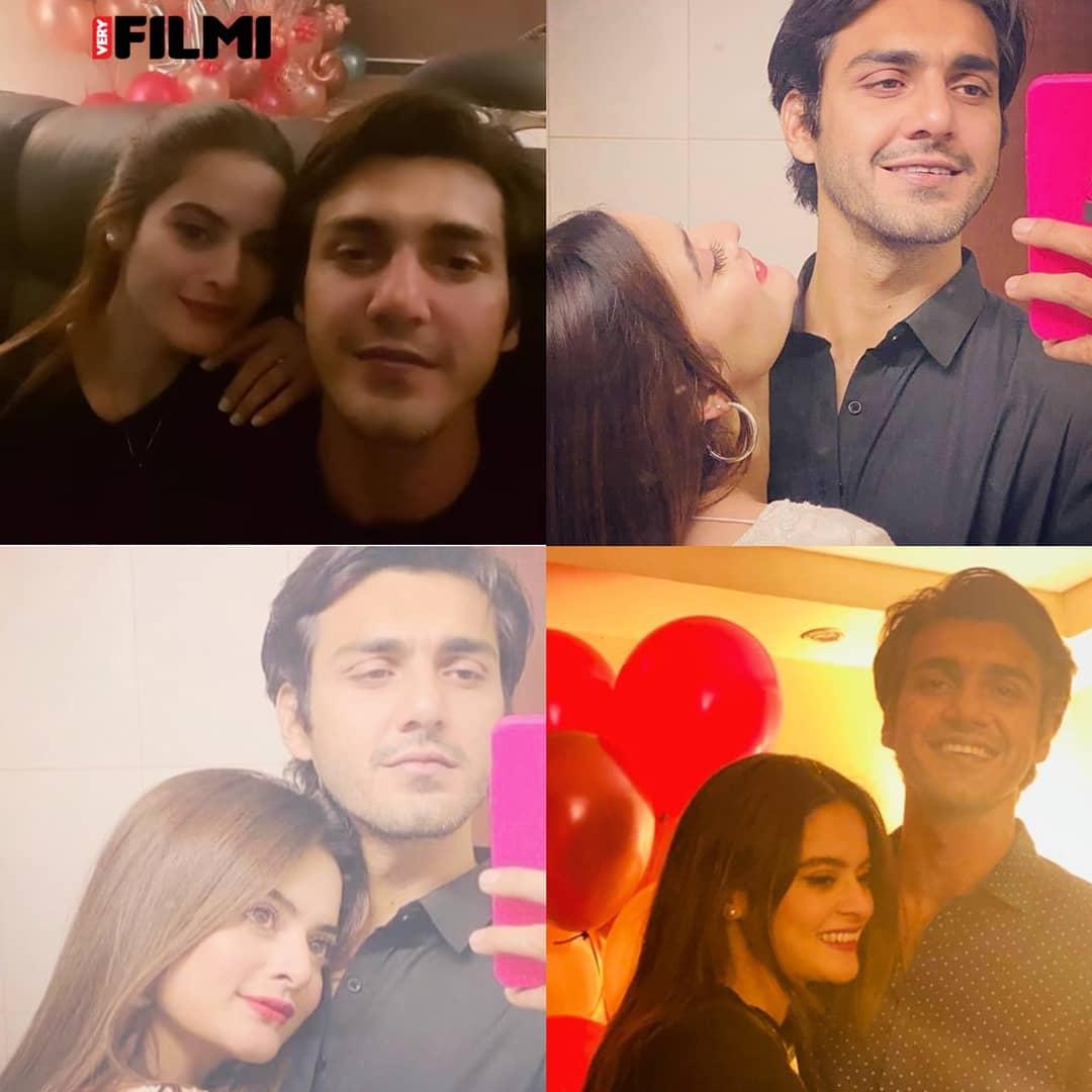 Minal Khan Celebrating Birthday With Beau Ahsan Mohsin Ikram