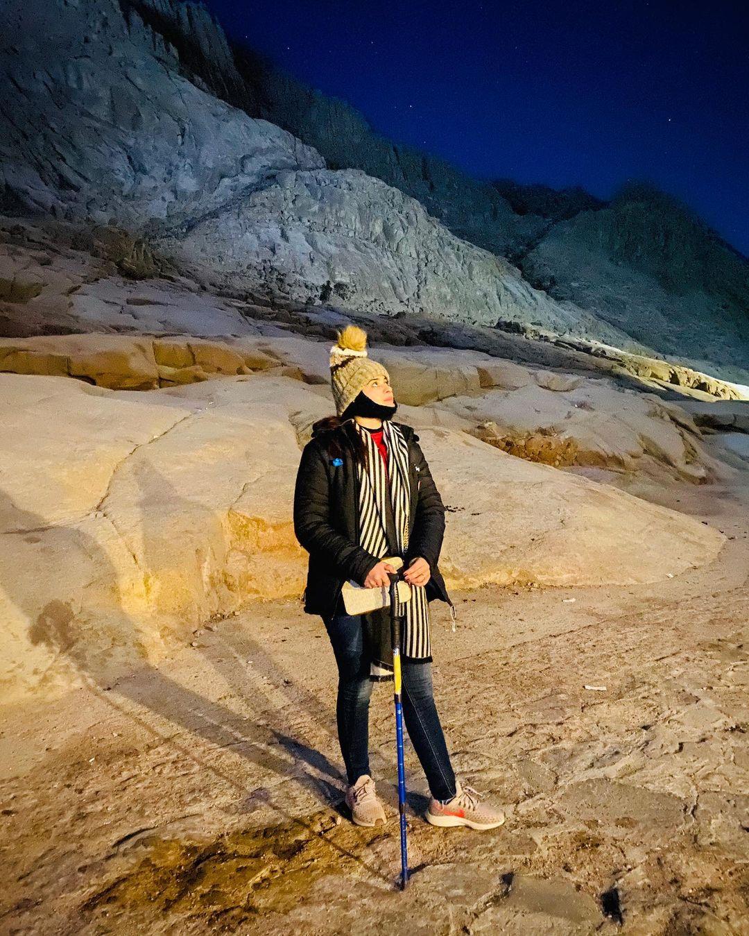 Minal Khan Shared Throwback Photos of Trekking at Jabal Musa Egypt