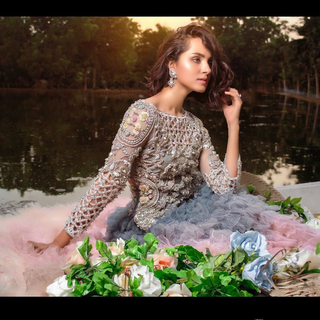 Nimra Khan Latest Bridal Dresses Photoshoot for Tabassum Mughal