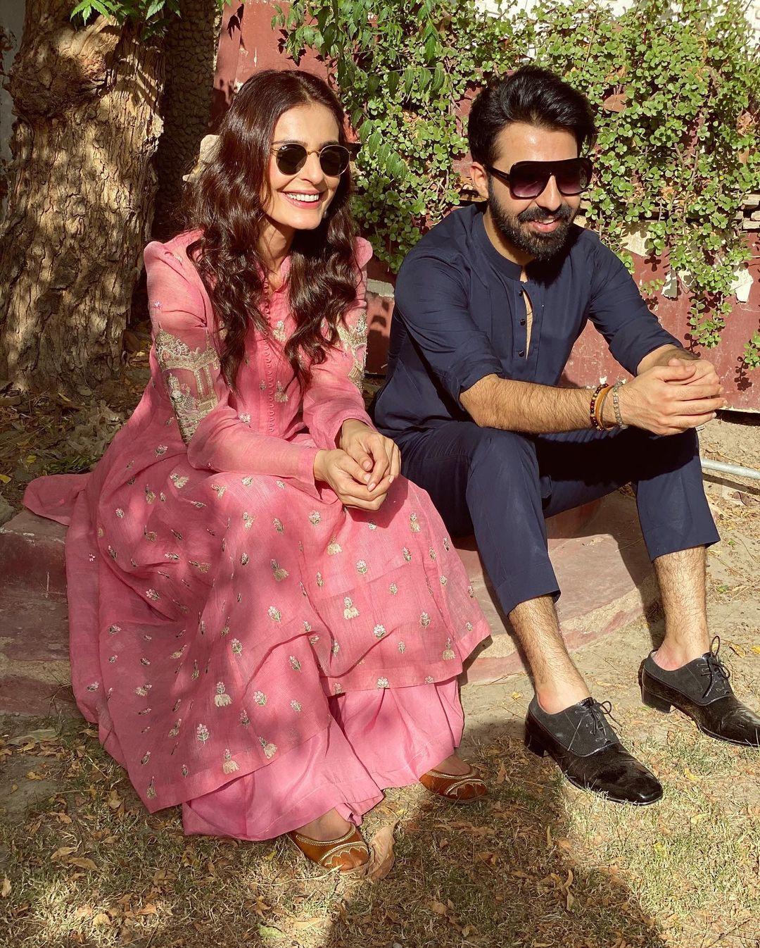 Beautiful Couple Sadia Ghaffar and Hassan Hayat Khan - Latest Photos