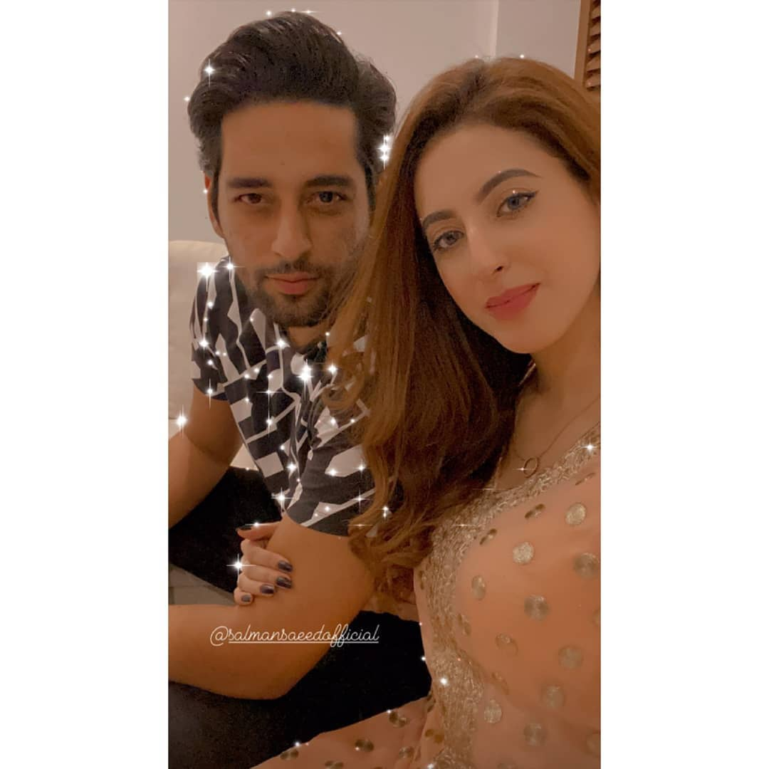 Actor Salman Saeed Celebrated his Birthday with his Wife Aleena