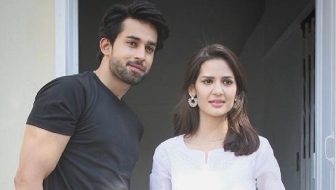 Bilal Abbas and Madiha Imam on the sets of Ek Jhooti Love Story