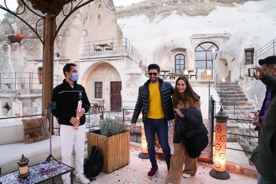Aiman Khan 22nd Birthday with Muneeb Butt in Turkey