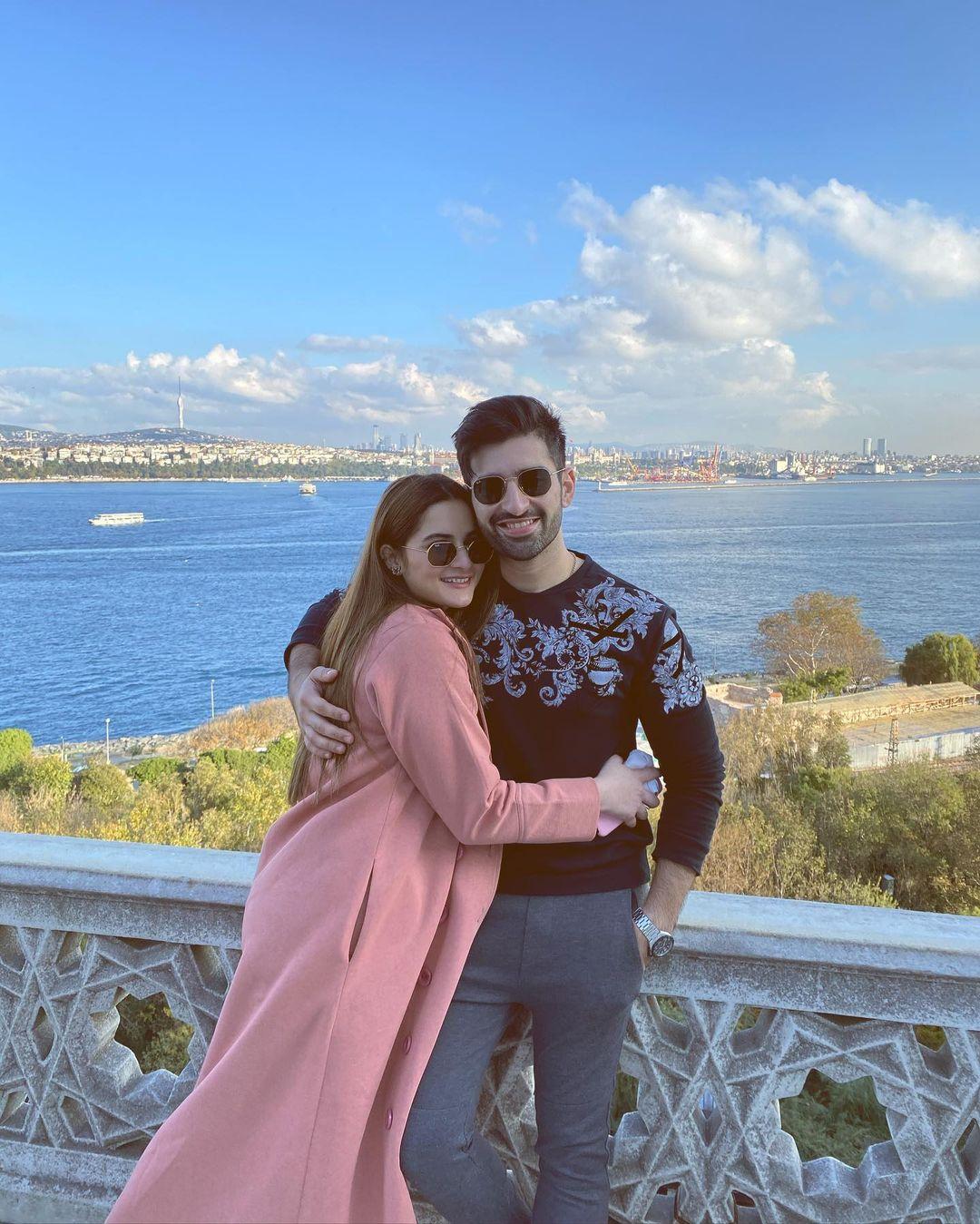 Aiman Khan and Muneeb Butt Enjoying Holidays in Turkey - Day 1