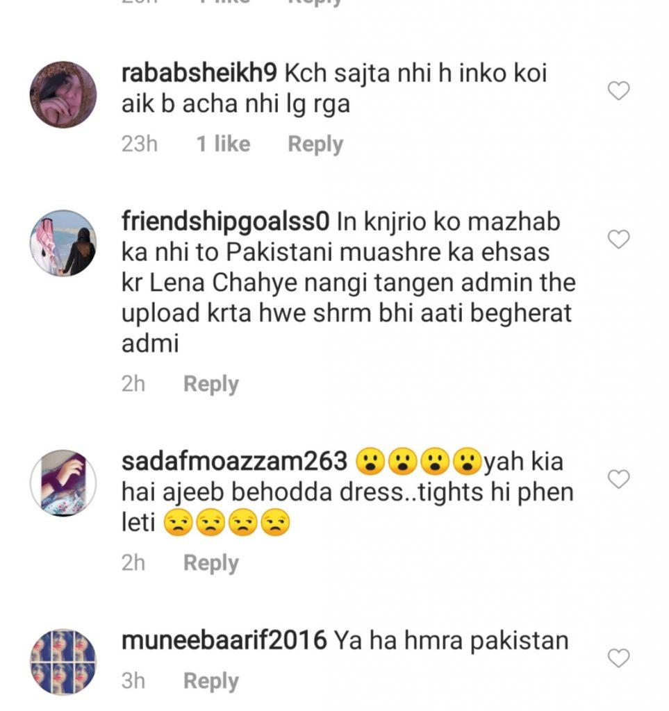 Hajra Yamin Receiving Criticism For Her Short Dress