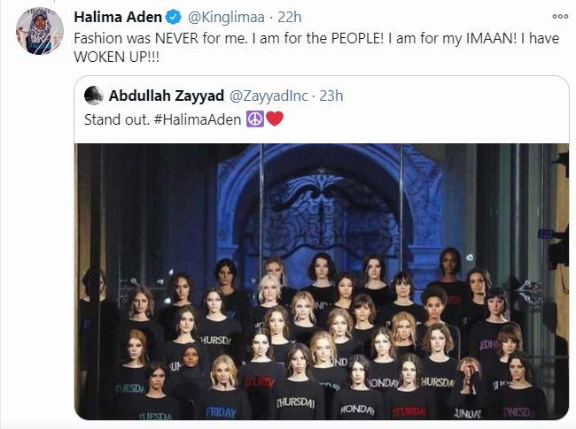 Model Halima Aden Quits Fashion Shows