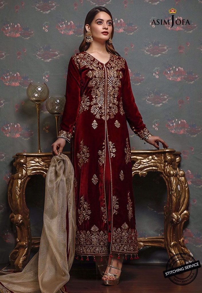 Latest Shoot Of Minal Khan For Asim Jofa Velvet Collection