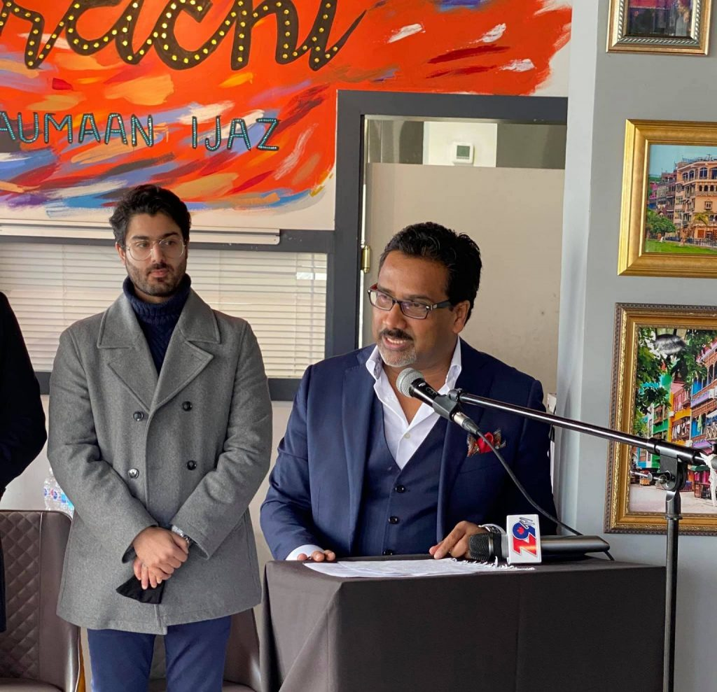 Naumaan Ijaz With His Family At The Launch Of Larachi By Naumaan Ijaz