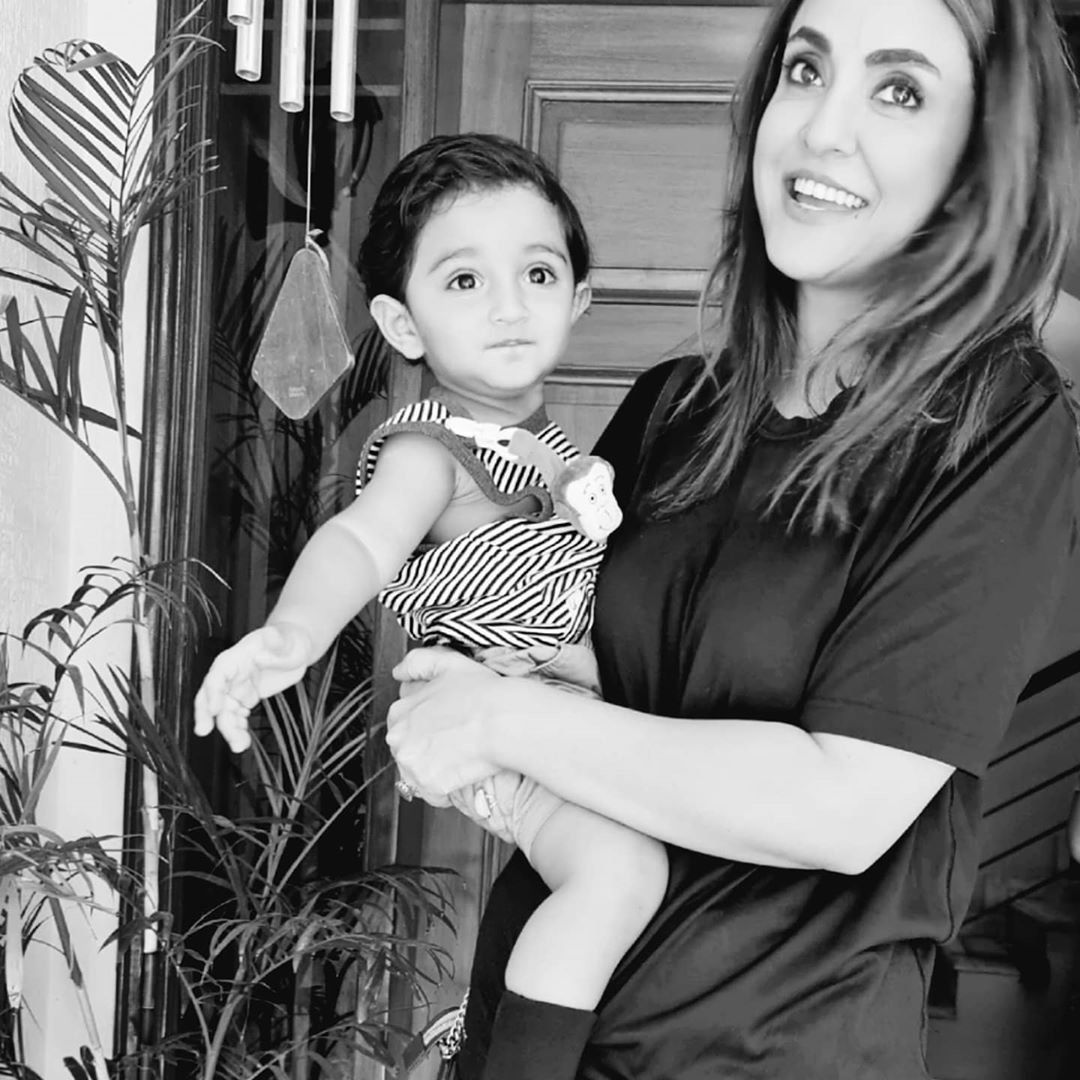 Nadia Khan Shared Beautiful Latest Photos with her Son