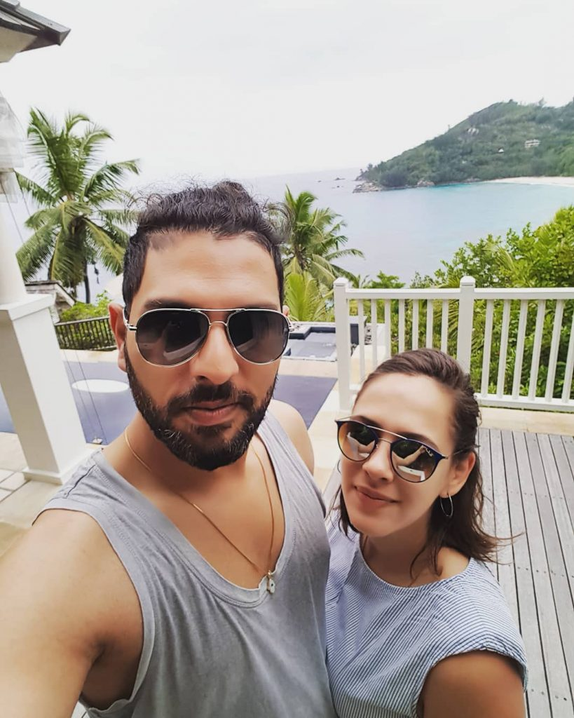 Yuvraj Singh Wife | 10 Romantic Pictures