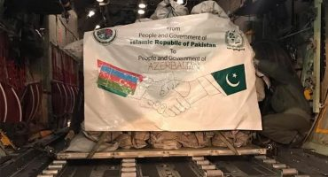 Pakistan sent aid to the Azerbaijan's territories freed from Armenia