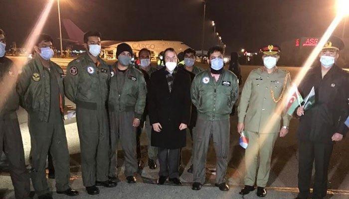 Pakistan sent aid to the Azerbaijan's territories freed from Armenia